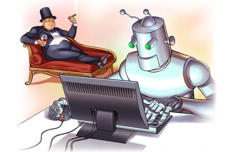 Idei de comerț Automate de roboți și semnale