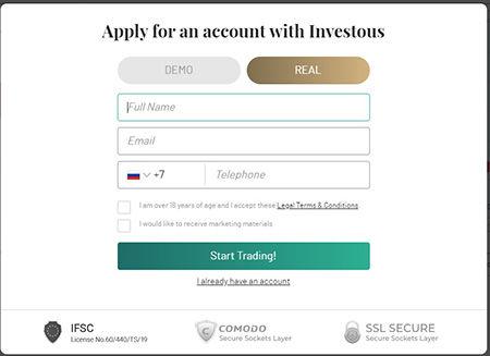 Investive Registrierung