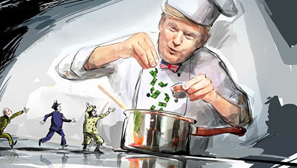 Trump as the world chef
