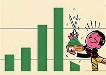 recortar dinero en la bolsa de valores