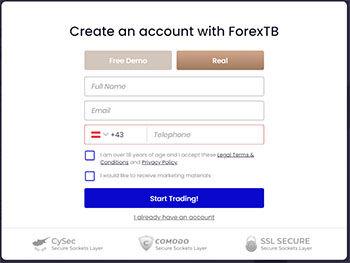 FXTB ForexTB registration