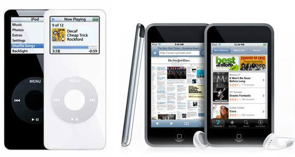 Apple iPod nano et Apple iPod Touch